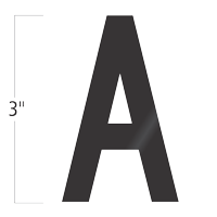 Die-Cut 3 Inch Tall Vinyl Letter A Black