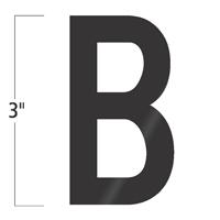 Die-Cut 3 Inch Tall Vinyl Letter B Black