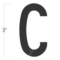 Die-Cut 3 Inch Tall Vinyl Letter C Black