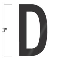 Die-Cut 3 Inch Tall Vinyl Letter D Black
