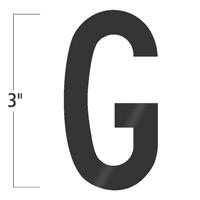 Die-Cut 3 Inch Tall Vinyl Letter G Black
