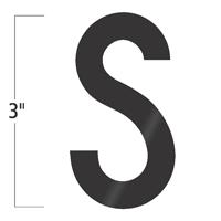 Die-Cut 3 Inch Tall Vinyl Letter S Black