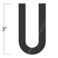 Die-Cut 3 Inch Tall Vinyl Letter U Black