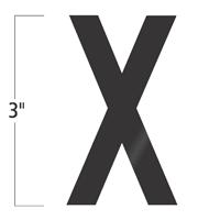 Die-Cut 3 Inch Tall Vinyl Letter X Black