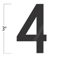 Die-Cut 3 Inch Tall Vinyl Number 4 Black