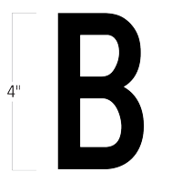 Die-Cut 4 Inch Tall Magnetic Letter B Black