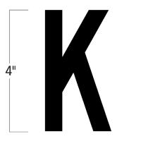 Die-Cut 4 Inch Tall Magnetic Letter K Black