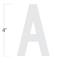 Die-Cut 4 Inch Tall Reflective Letter A White