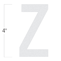 Die-Cut 4 Inch Tall Reflective Letter Z White
