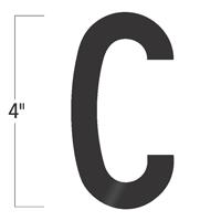 Die-Cut 4 Inch Tall Vinyl Letter C Black