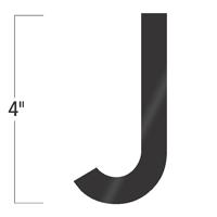 Die-Cut 4 Inch Tall Vinyl Letter J Black
