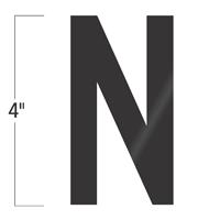 Die-Cut 4 Inch Tall Vinyl Letter N Black