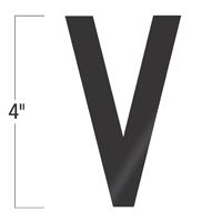Die-Cut 4 Inch Tall Vinyl Letter V Black