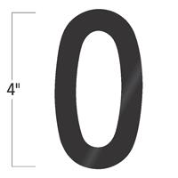 Die-Cut 4 Inch Tall Vinyl Number 0 Black