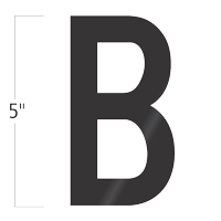Die-Cut 5 Inch Tall Vinyl Letter B Black