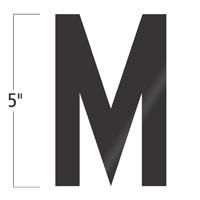 Die-Cut 5 Inch Tall Vinyl Letter M Black