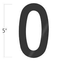 Die-Cut 5 Inch Tall Vinyl Letter O Black