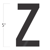 Die-Cut 5 Inch Tall Vinyl Letter Z Black