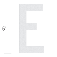 Die-Cut 6 Inch Tall Reflective Letter E White