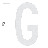 Die-Cut 6 Inch Tall Reflective Letter G White