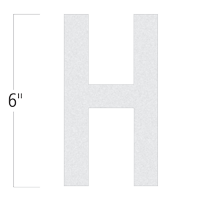Die-Cut 6 Inch Tall Reflective Letter H White