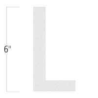 Die-Cut 6 Inch Tall Reflective Letter L White