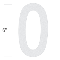 Die-Cut 6 Inch Tall Reflective Letter O White
