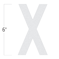Die-Cut 6 Inch Tall Reflective Letter X White