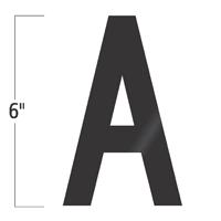 Die-Cut 6 Inch Tall Vinyl Letter A Black