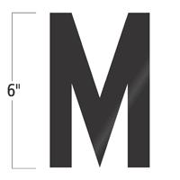 Die-Cut 6 Inch Tall Vinyl Letter M Black