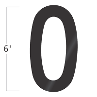 Die-Cut 6 Inch Tall Vinyl Letter O Black