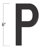 Die-Cut 6 Inch Tall Vinyl Letter P Black