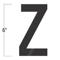 Die-Cut 6 Inch Tall Vinyl Letter Z Black