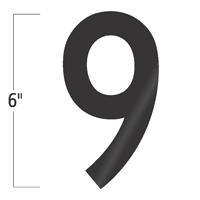 Die-Cut 6 Inch Tall Vinyl Number 9 Black