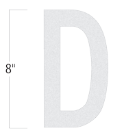 Die-Cut 8 Inch Tall Reflective Letter D White