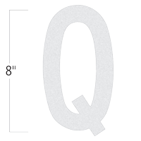 Die-Cut 8 Inch Tall Reflective Letter Q White