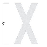Die-Cut 8 Inch Tall Reflective Letter X White