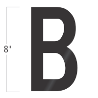 Die-Cut 8 Inch Tall Vinyl Letter B Black