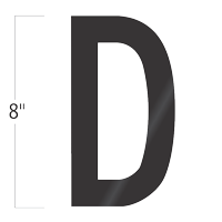 Die-Cut 8 Inch Tall Vinyl Letter D Black