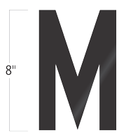 Die-Cut 8 Inch Tall Vinyl Letter M Black