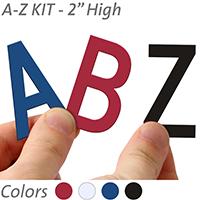 2 inch Die-Cut Magnetic Letter Kit, 4 Colors