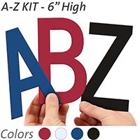 6 inch Die-Cut Magnetic Letter Kit, 4 Colors