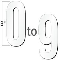 3 inch Die-Cut Magnetic Number Kit, 4 Colors