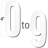 4 inch Die-Cut Magnetic Number Kit, 4 Colors