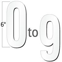 6 inch Die-Cut Magnetic Number Kit, 4 Colors
