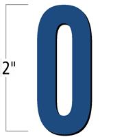 2 inch Die-Cut Magnetic Number - 0, Blue