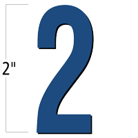 2 inch Die-Cut Magnetic Number - 2, Blue