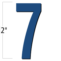 2 inch Die-Cut Magnetic Number - 7, Blue