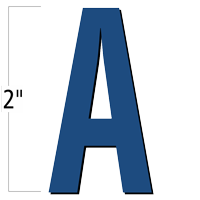 2 inch Die-Cut Magnetic Letter - A, Blue