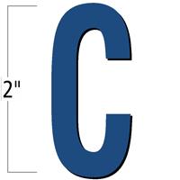 2 inch Die-Cut Magnetic Letter - C, Blue